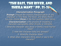 """The Bass, The River, and Sheila Mant "" pp. 31"