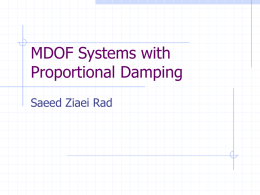 MDOF Systems with Proportional Damping - Saeed Ziaei-Rad
