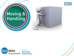 How is moving and handling defined?