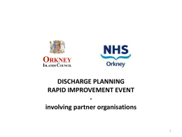 NHS ORKNEY - Quality Improvement Hub