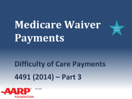22a Difficulty of Care Payments - Aarp-tax-aide