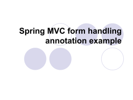 Spring MVC form handling annotation