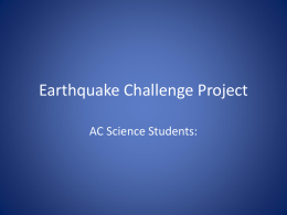 Earthquake Challenge Project