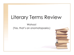 Poetry Terms Review