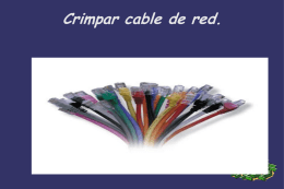 Crimpar cable de red.