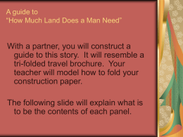 "A guide to ""How Much Land Does a Man Need"""