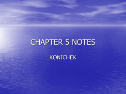 CHAPTER 5 NOTES - School District of La Crosse