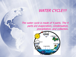 WATER CYCLE!!!