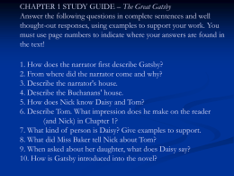 Gatsby Chapter 1 Study Guide Questions