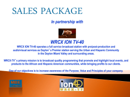 WRCX-TV 40 Sales Package