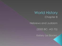 Hebrews and Judaism