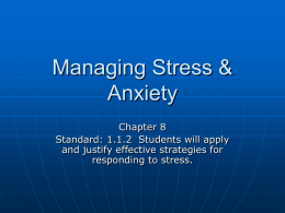 Managing Stress & Anxiety