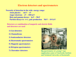 Electron detectors and spectrometers