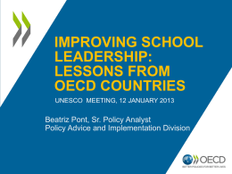 Improving School Leadership Lession from OECD Countries