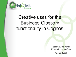 Business Glossary Presentation