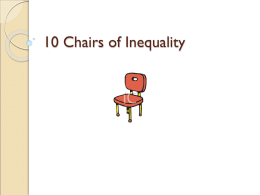 10 Chairs of Inequality