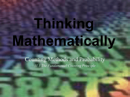 Thinking Mathematically by Robert Blitzer
