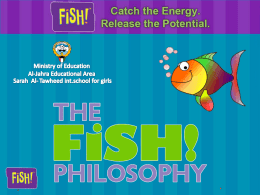 The fish philosophy - Jahra ELT Supervision