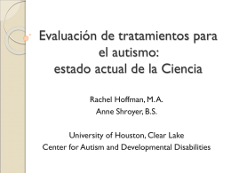 Evidence-based and Fad Treatments for Autism
