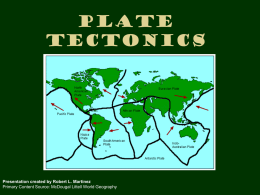 Geography Plate Tectonics Earthquakes Volcanoes