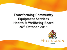 """Community Equipment""? - London Borough of Hillingdon"