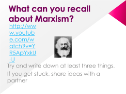 l – marxism and education