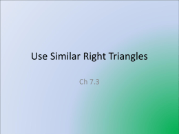 Use Similar Right Triangles