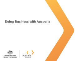 Doing Business with Australia PowerPoint