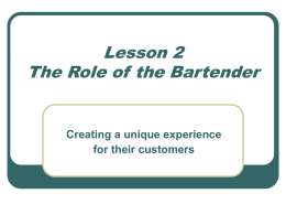 The Role of the Bartender (revised)