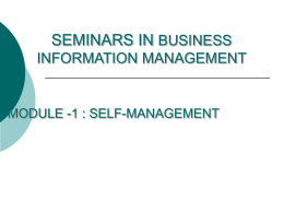 MS-PowerPoint - Business Information Management