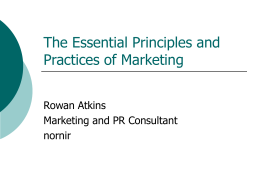 The Essential Principles and Practice of Marketing
