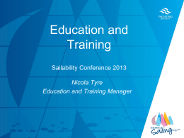 Education & Training - Nicola Tyre