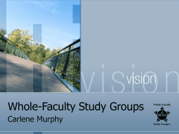 Whole-Faculty Study Groups - Ware County School System