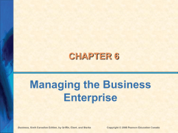 Ch 6 - Managing the Business