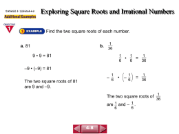 Exploring Square Roots and Irrational Numbers