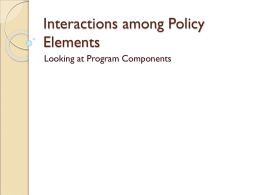 Interactions among Policy Elements