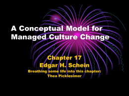 A Conceptual Model for Managed Culture Change