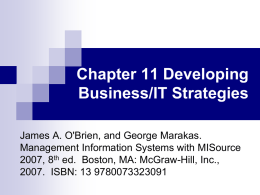 Chapter 11 Developing Business/IT Strategies