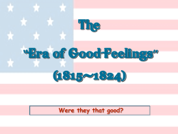 The Era of Good Feeling