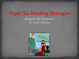 Super Six Reading Strategies
