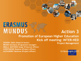 Project officer - Erasmus Mundus