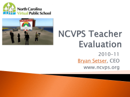 NCVPS Teacher Evaluation