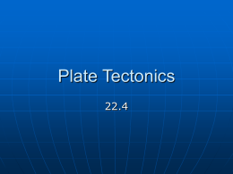 Plate Tectonics - Galena High School Library