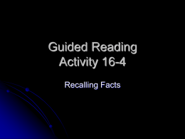 Guided Reading Activity 16-4