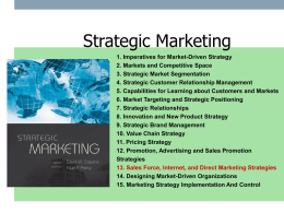 sales force, internet, and direct marketing strategies