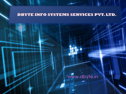 dbyte info systems services pvt. ltd.