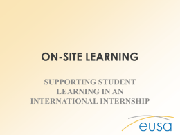 ICC EUSA presentation 2015 - International Careers Consortium