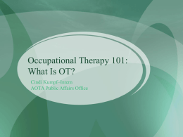 Occupational Therapy 101: What Is OT?