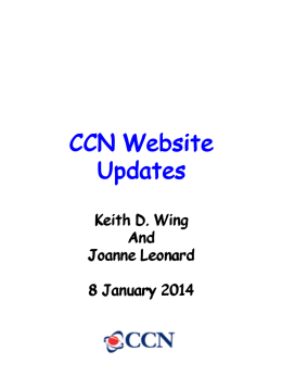 CCN Website Updates