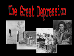 The Great Depression - Hunterdon Central Regional High School